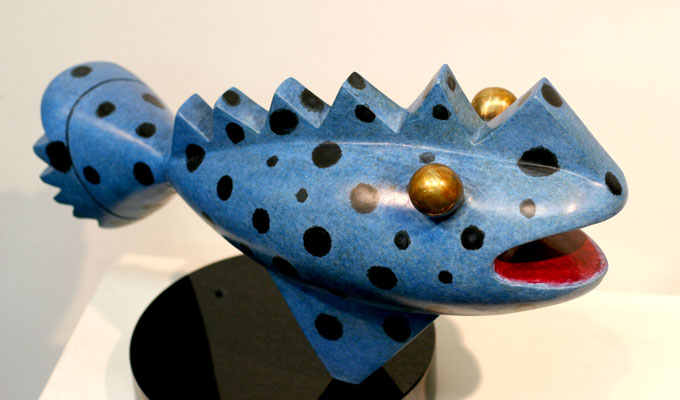 PreHistoric Spotted Blue Fish